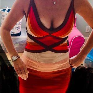Missoni fitted bodice stretch dress